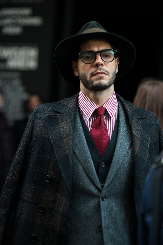 how to wear a grey suit with a black waistcoat- flannel suit black waistcoat