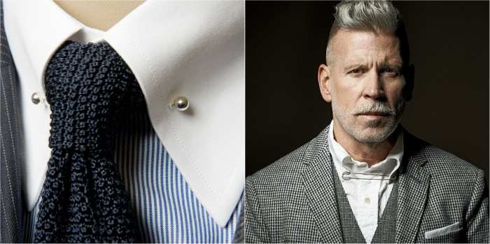 how to wear a tie pin collar pin