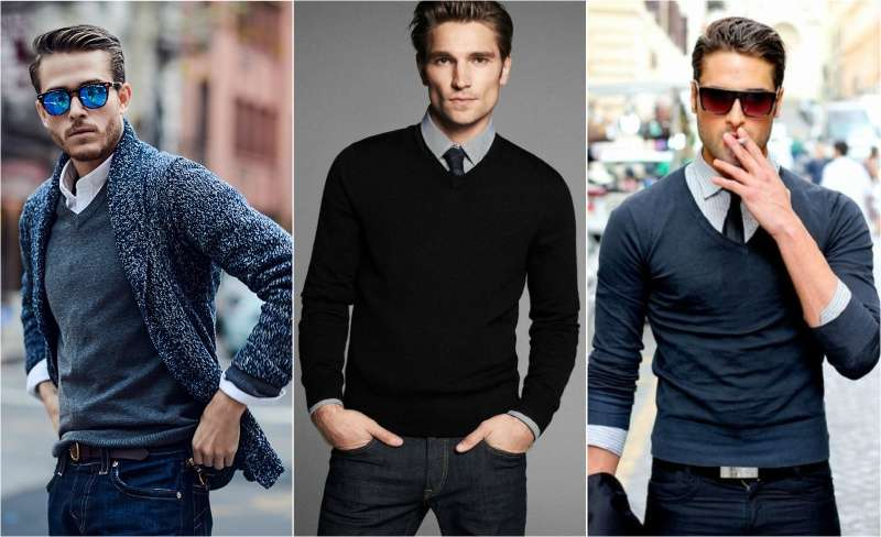 how-to-wear-a-v-neck-with-dress-shirt-men