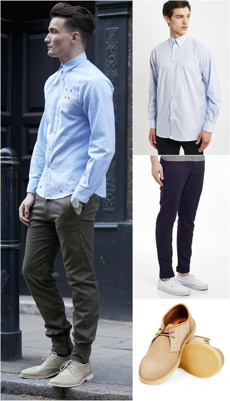 how to wear an oxford shirt look men