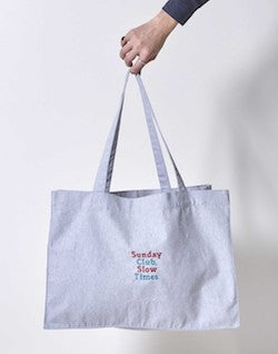 theidleman.com:the-idle-man-organic-sunday-club-embroidery-shopper-bag-grey.html