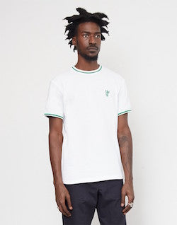 huf country club pique crew white