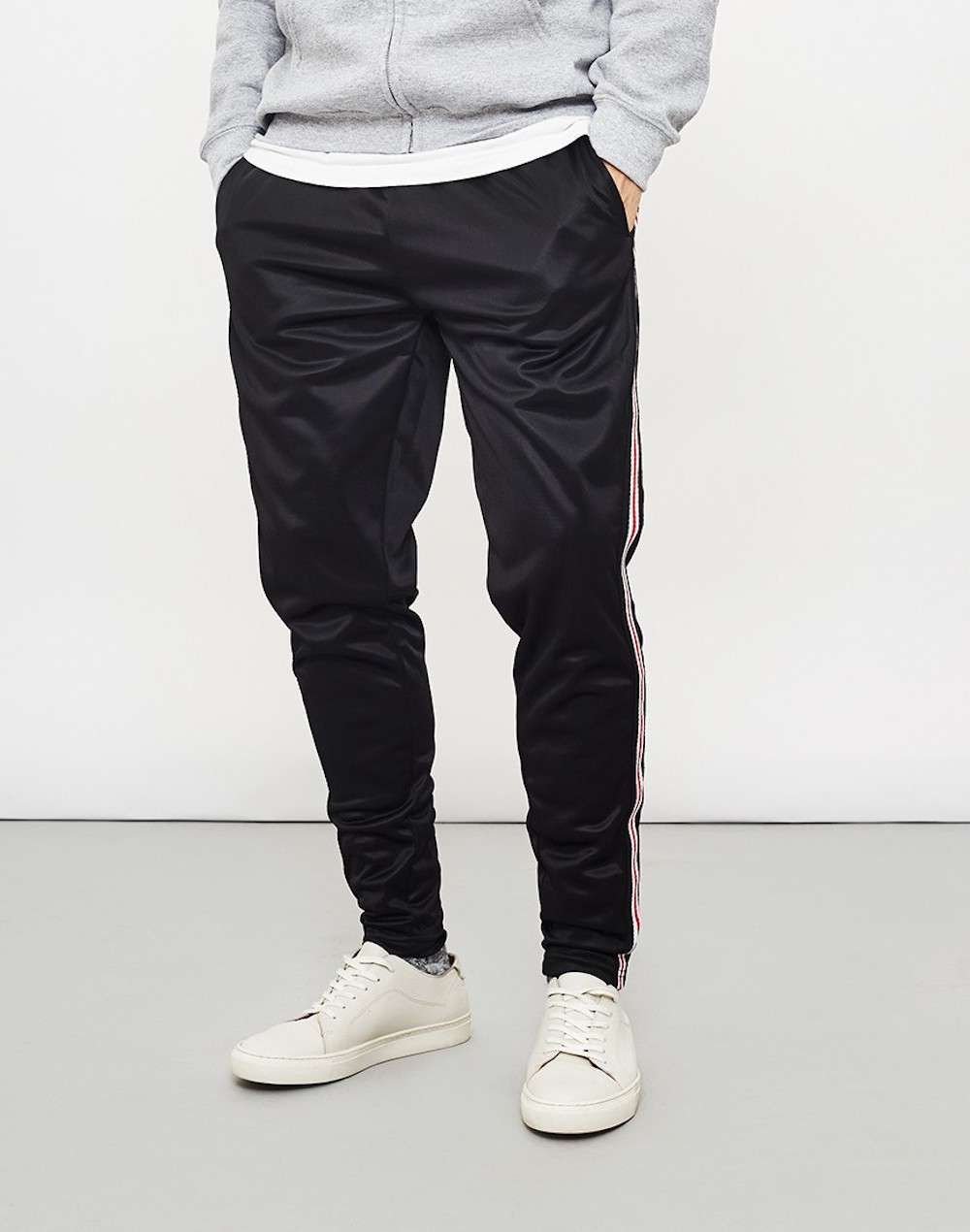 the idle man black joggers for men