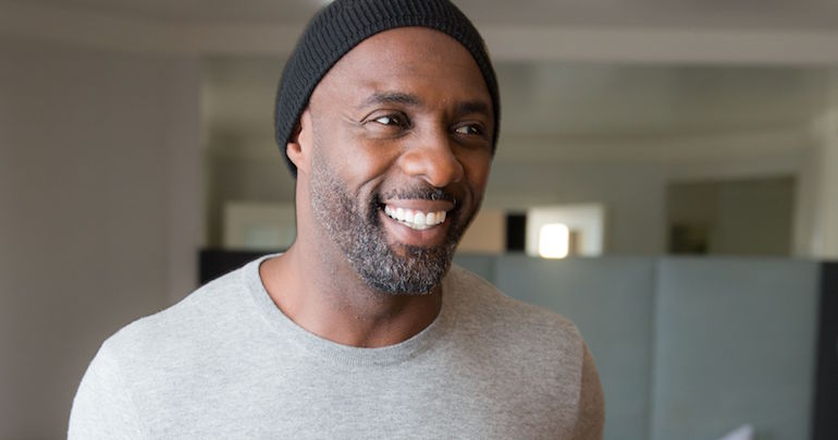 idris elba grey jumper black beanie mens street style