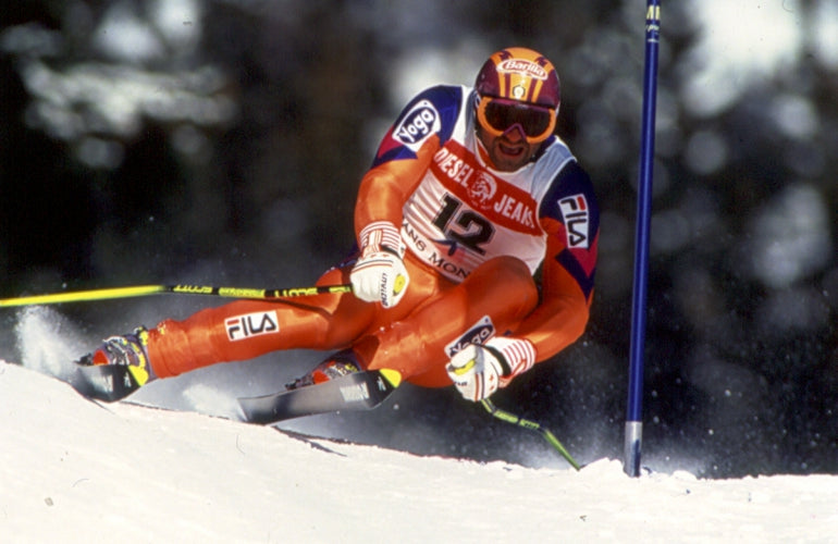 ingemar stenmark skiing in fila clothes