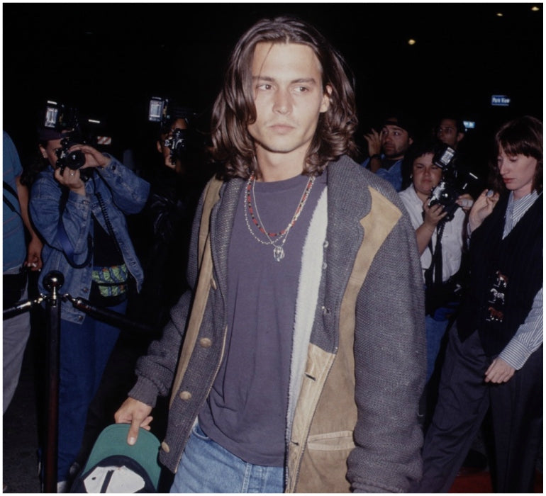johnny depp long hair 90s