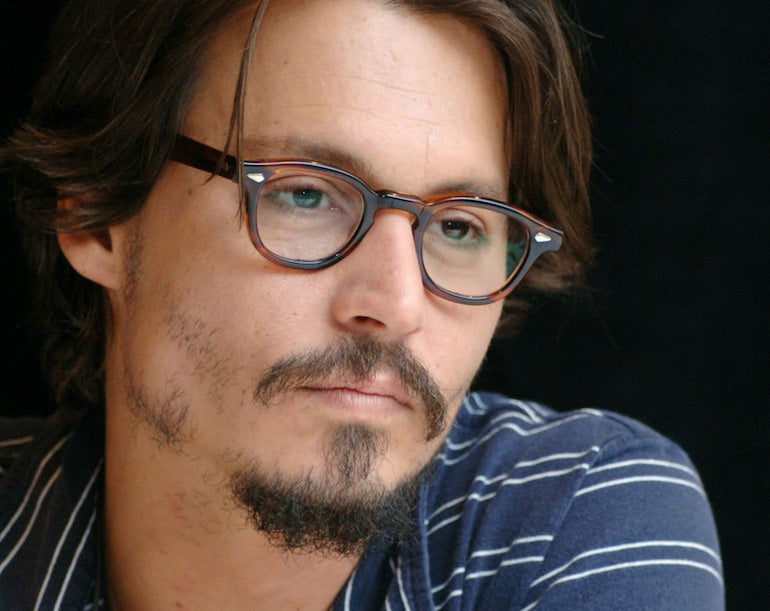johnny depp patchy beard men