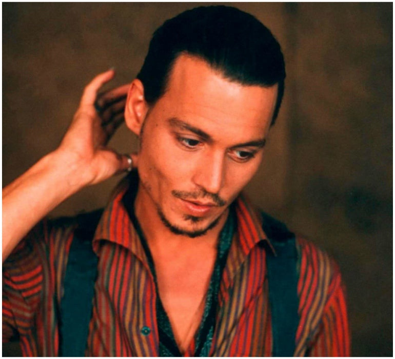 johnny depp shaved hair