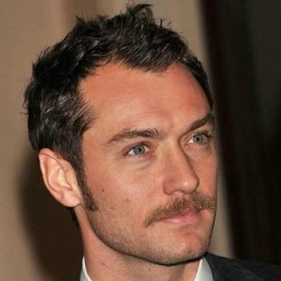 jude law thin dishevelled hair mens