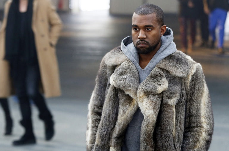 Kanye West in Shearling Jacket