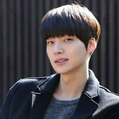 korean asian men blunt fringe