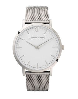 larsson and jennings silver watch for men