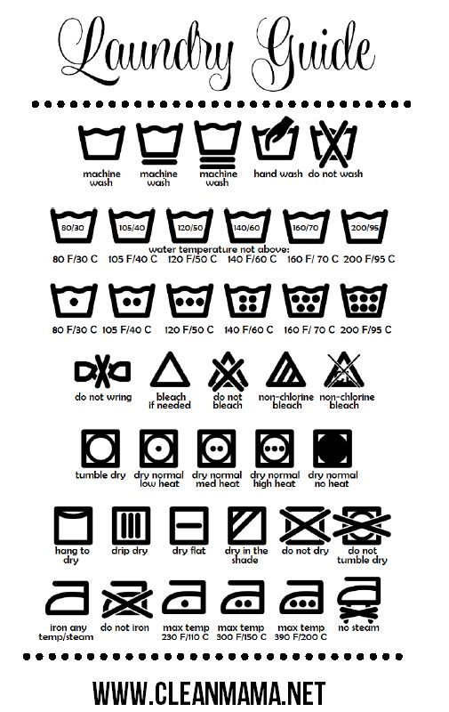 laundry care guide easy symbols label