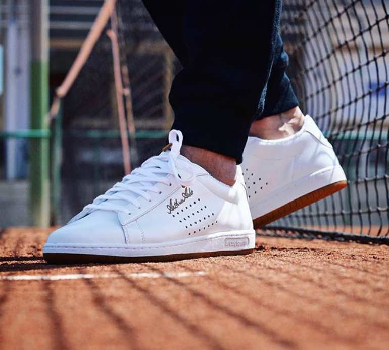 le coq sportif arthur ashe white trainers mens street style