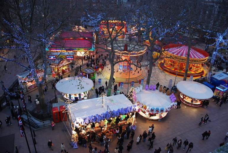leicester square christmas market