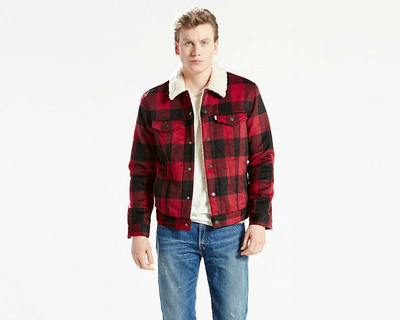 levis plaid trucker jacket for men