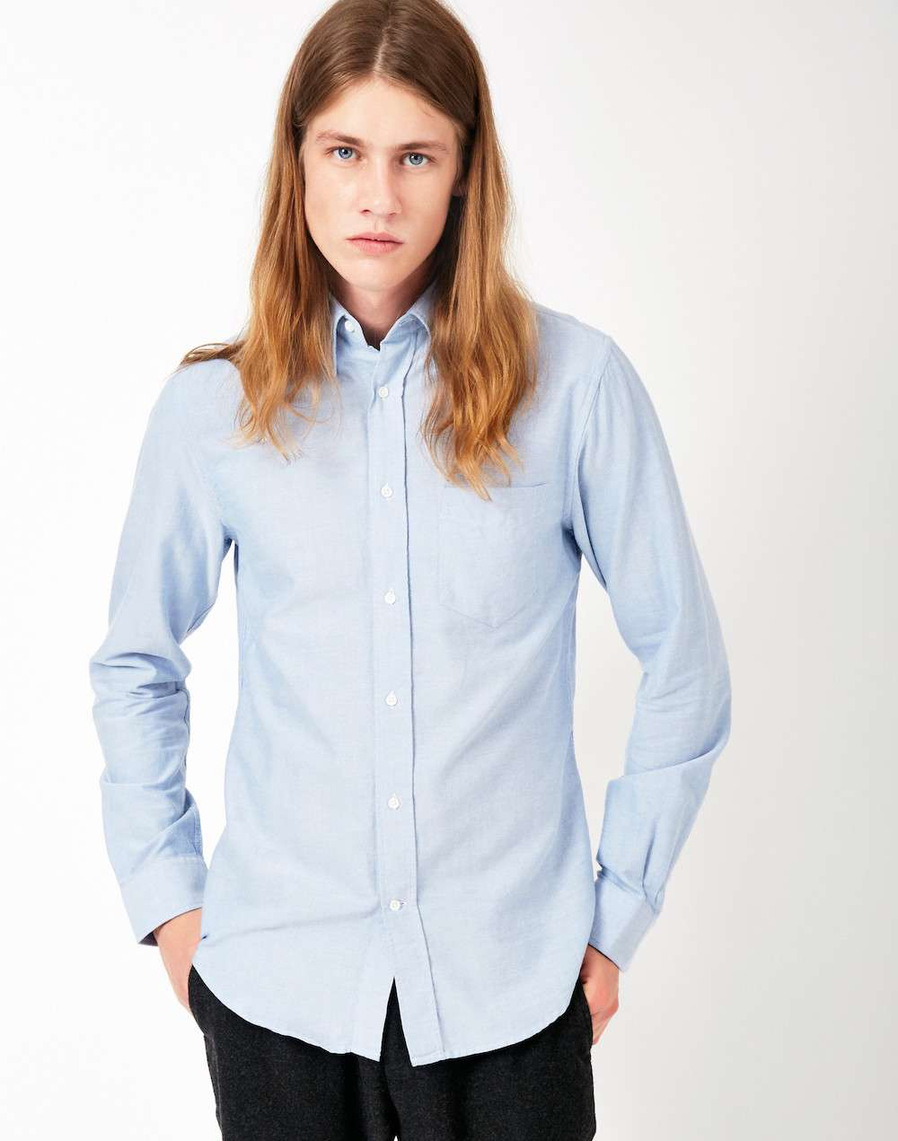 GANT RUGGER Textured Shirt Jacket Blue mens
