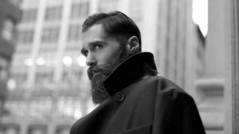 long beard and moustache look for men