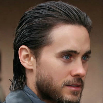 mens long slick hair jared leto