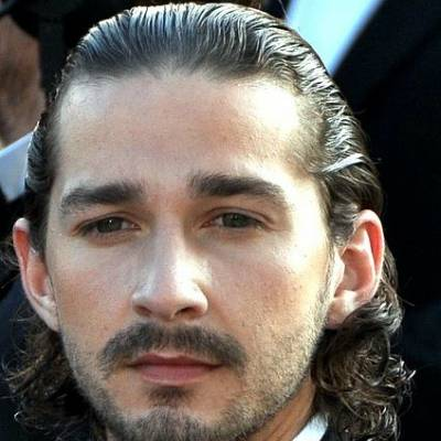 shia lebeouf mens slicked back hairstyle for men