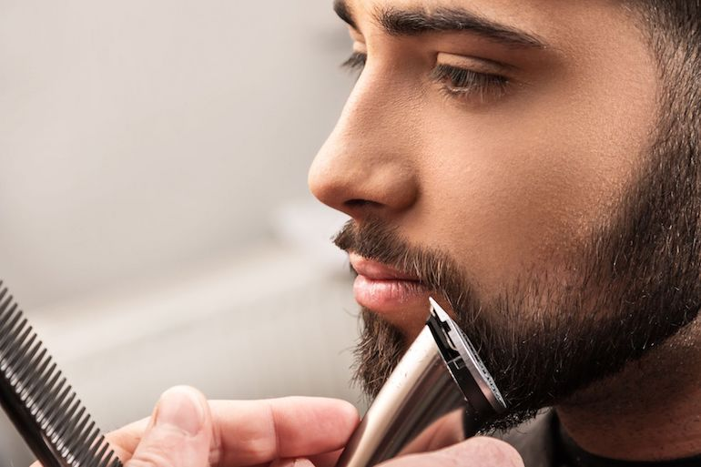 man shaving moustache mens grooming