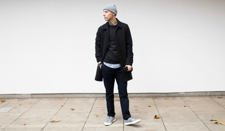 man wearing grey supergas streetstyle