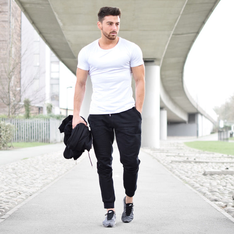 man wearing white t shirt mens e0b0b3a96