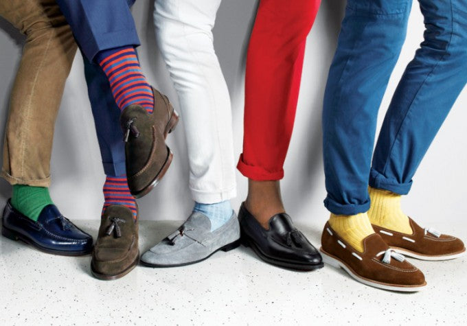 mens coloured chinos socks