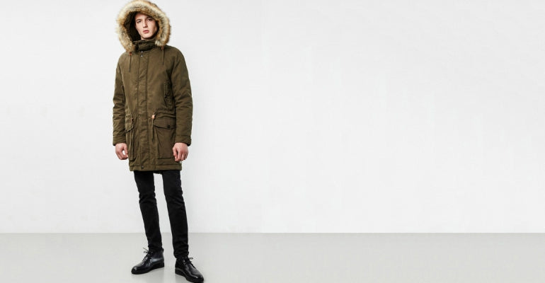 men canvas parka