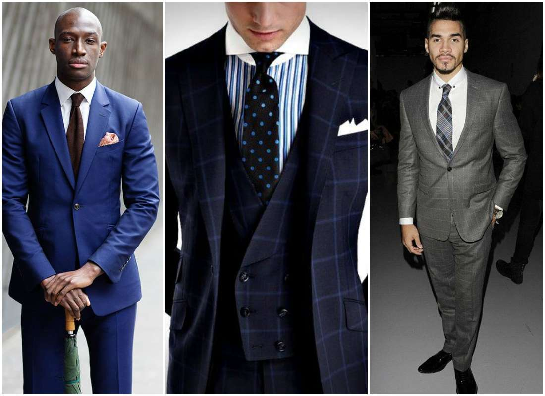 men in suits buttoned up