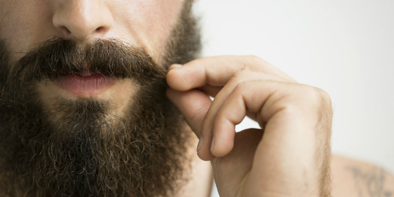 mens moustache and beard