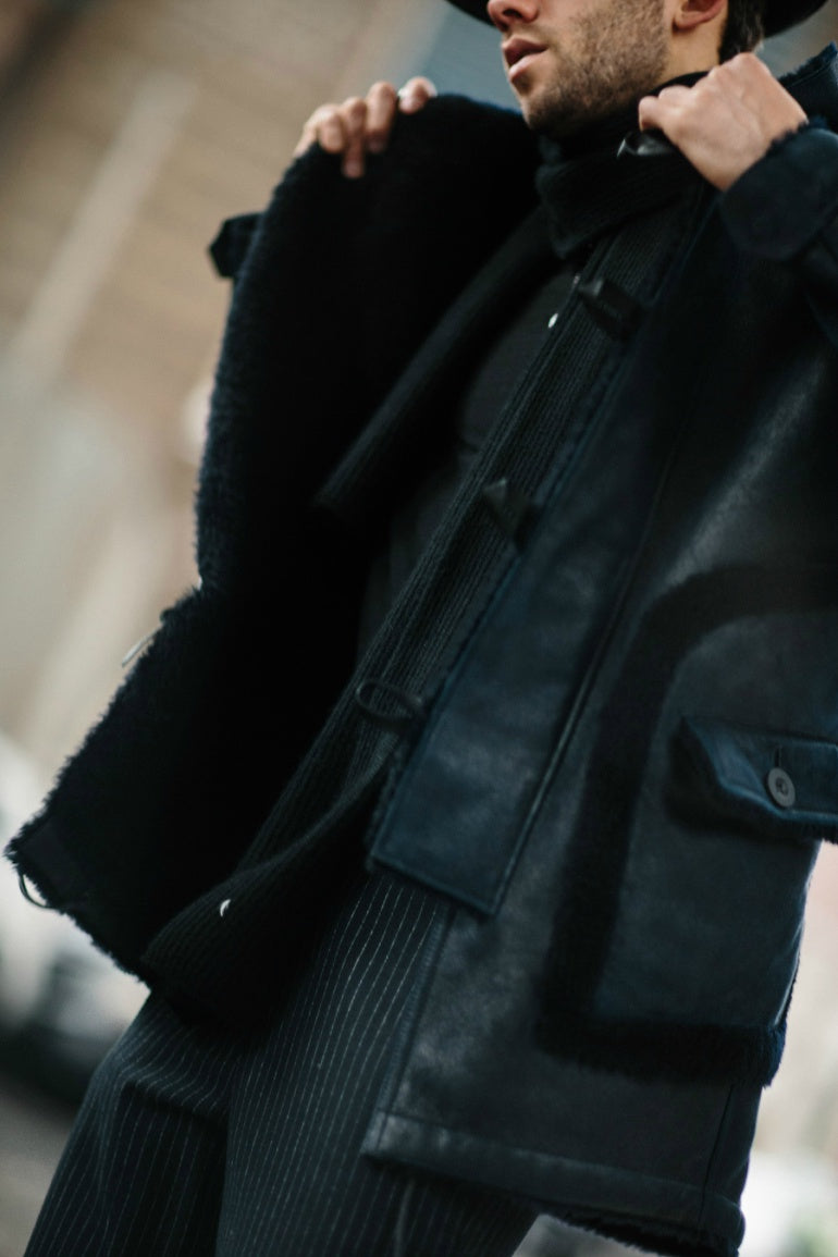 mens-black-shearling-jacket