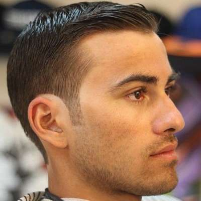 mens brown sideburns hairstyle