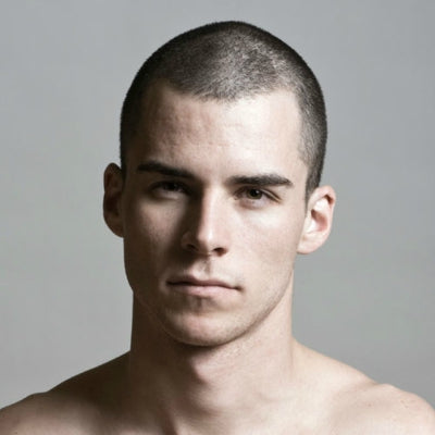 mens buzzcut hair