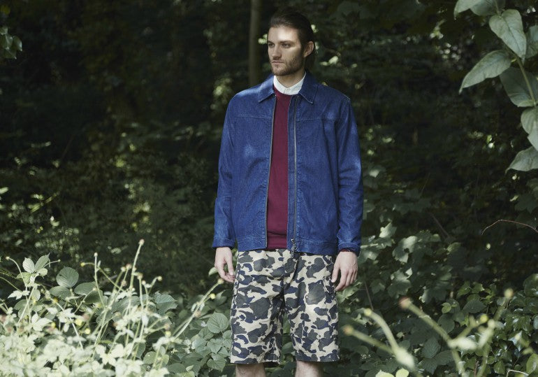 mens camo shorts outfit street style