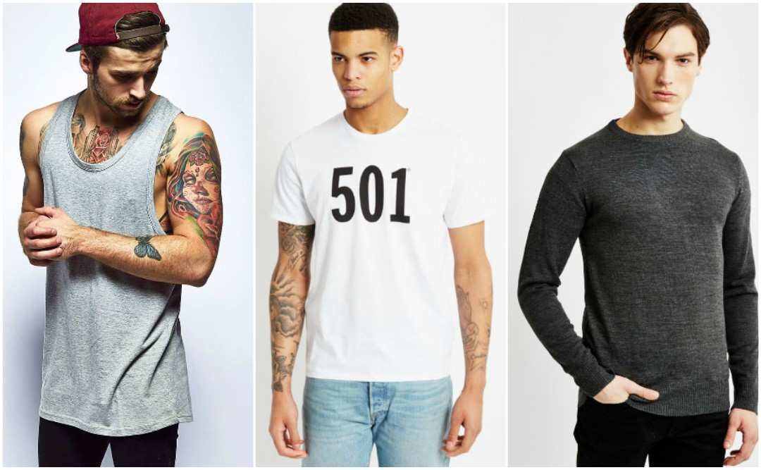 mens casual tops for athletic build