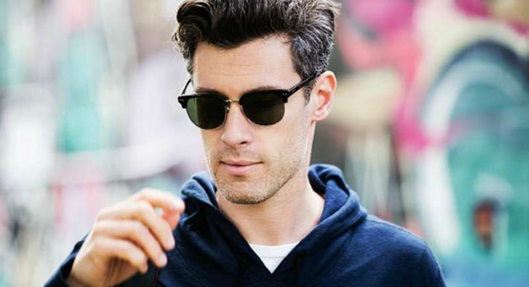 96204984f34d ... the eyebrow line. mens clubmaster sunglasses summer street style