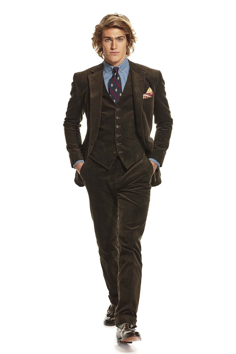 mens corduroy suit wedding