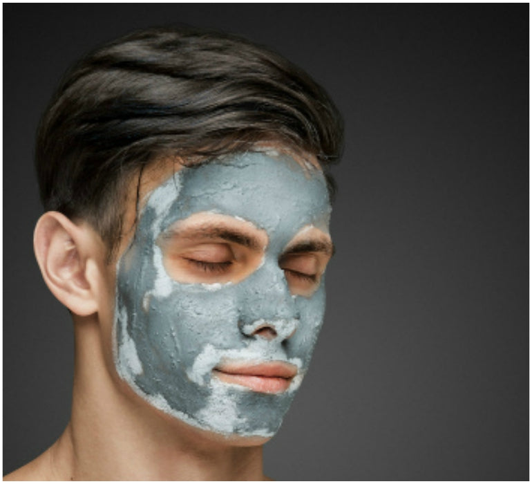 mens grooming clay face mask