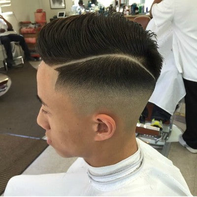 mens hard part hairstyle