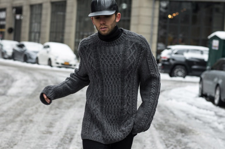 mens knitted jumper street style