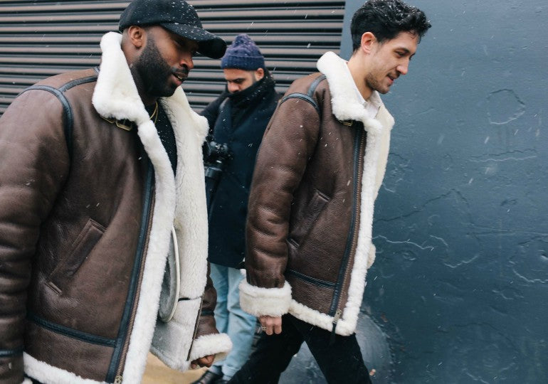 mens-leather-brown-shearling-jacket-street-style