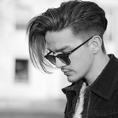 mens long quiff hair style