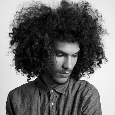 mens natural afro hair