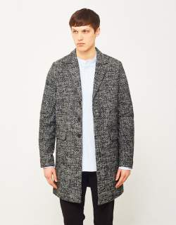 mens only and sons melange phoenix coat black