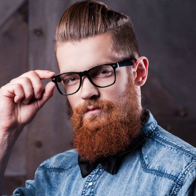 mens pompadour with beard