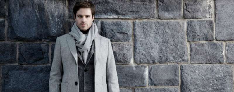 mens scarf and coat