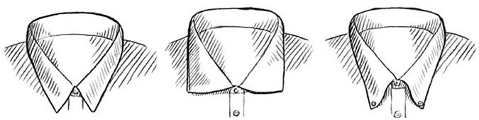 mens shirt collar shapes