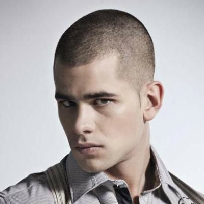 mens short buzzcut hair
