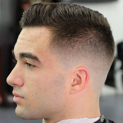 mens short taper fade